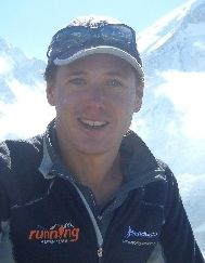 Michele Ufer at Mount Everest Basecamp